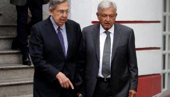 Cuauhtémoc Cárdenas se reúne con López Obrador en casa de campaña