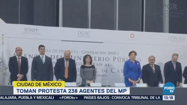 Elías Beltrán Toma Protesta Agentes Ministerio Público
