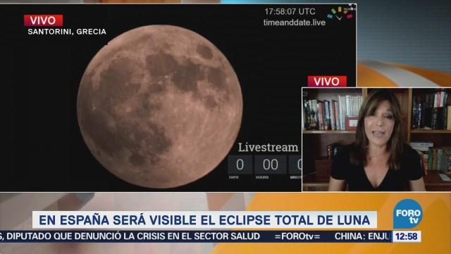 En España será visible el eclipse total de Luna