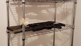 Encuentran armas y pancartas sobre desaparecidos en Nuevo Laredo