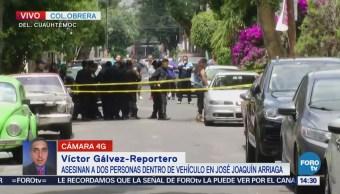 Encuentran Dos Cadáveres Dentro Auto Colonia Obrera