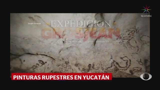 Encuentran pinturas rupestres en cueva de Yucatán