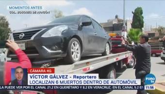 Encuentran seis cadáveres dentro de un automóvil en Bosques de Aragón