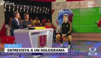 Entrevistan a Eden Hazard a trEntrevistan a Eden Hazard a través de hologramaavés de holograma