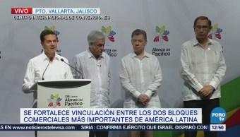 EPN agradece participación en la Cumbre de la Alianza del Pacífico-Mercosur
