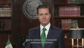 EPN felicita a AMLO por triunfo en elección