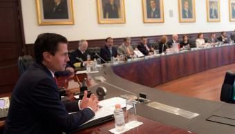 EPN se reúne con gabinete; revisa compromisos y procedimiento de cambio de poderes