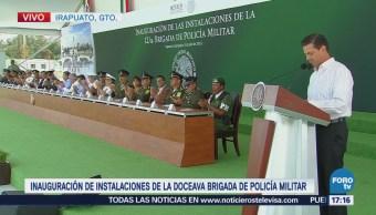Epn Inaugura Instalaciones Militares Irapuato, Guanajuato