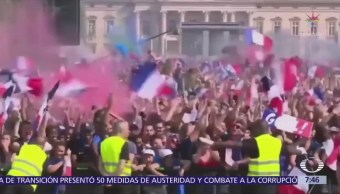 Euforia en Francia por triunfo del Mundial de Rusia 2018