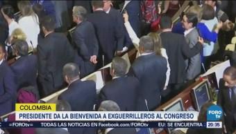 Exguerrilleros Las FARC Juran Legisladores Colombia
