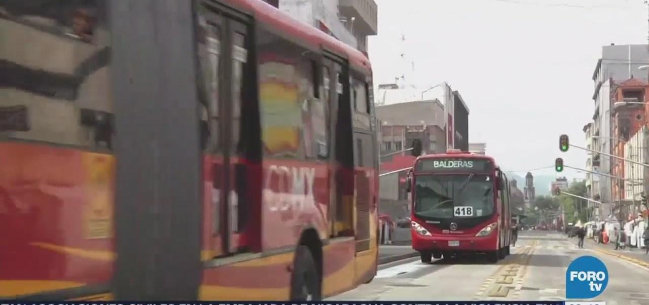 Metrobús suspenderá servicio en estaciones