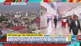 Fausto Lugo: Los servicios de la CDMX funcionan con normalidad luego de sismo