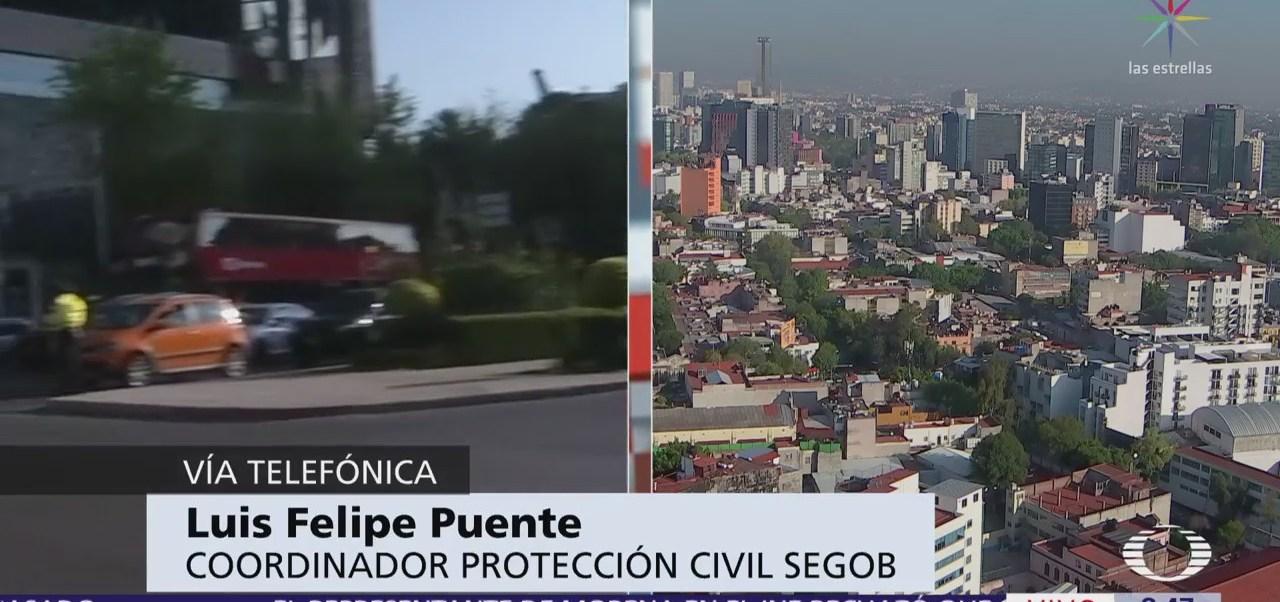 Felipe Puente reporta saldo blanco por sismo