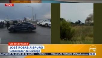 Controlado Percance Avión Durango José Rosas Aispuro