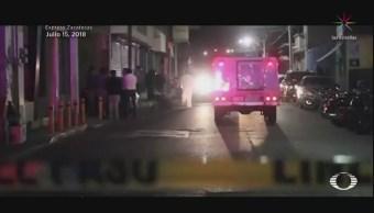 Hombres armados irrumpen en funeraria de Zacatecas