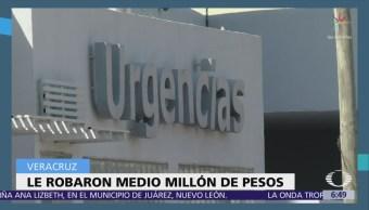 Hombres armados roban medio millón de pesos cuentahabiente