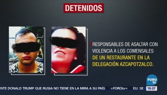 Identifican Presuntos Asaltantes Restaurante CDMX