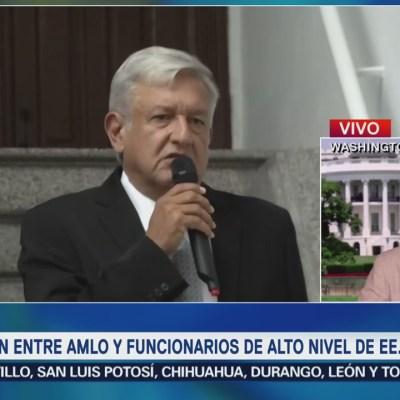 Inédita, reunión de 10 altos funcionarios de EU con López Obrador