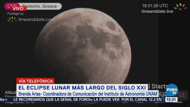 Inicia eclipse lunar más largo del siglo XXI