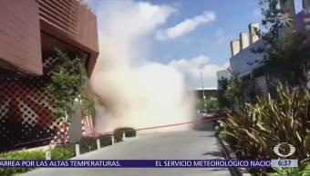 Investigan derrumbe en la plaza Artz Pedregal
