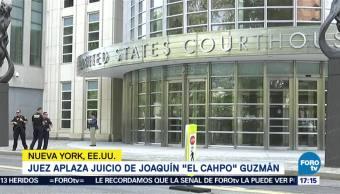 Aplazan Juicio El Chapo Guzmán Hasta Noviembre