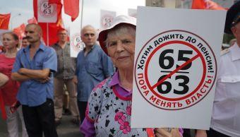 Protestas contra reforma de pensiones en Rusia