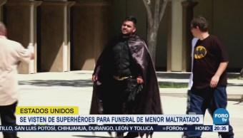 Despiden Vestidos Superhéroes Niño Muerto Maltratado Padres