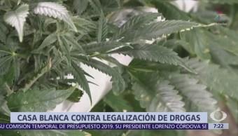 La Casa Blanca no está a favor de la legalización de drogas