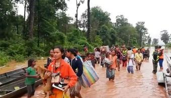 Laos busca a cientos de desaparecidos tras derrumbe de presa