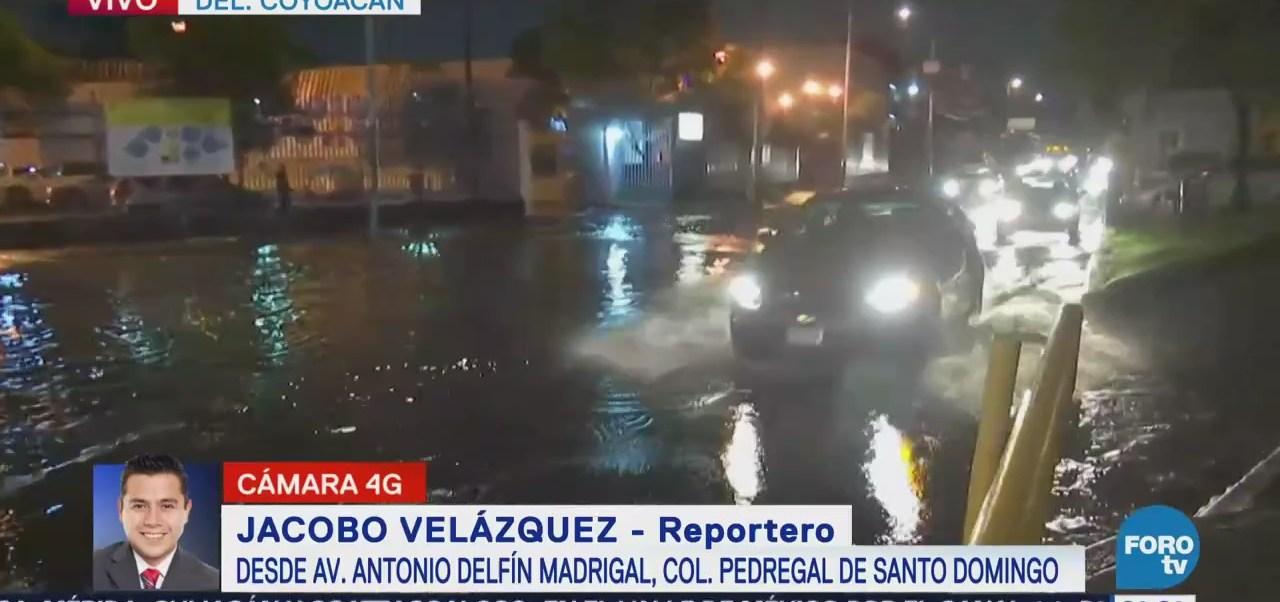 Lluvia provoca inundaciones en Coyoacán