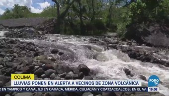Lluvias Provocan Lahares Región Volcánica Colima
