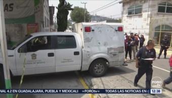 Localizan dos cuerpos en avenida Lago de Guadalupe, Edomex