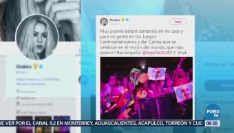 #LoEspectaculardeME: Shakira cantará en la inauguración de los juegos deportivos centroamericanos