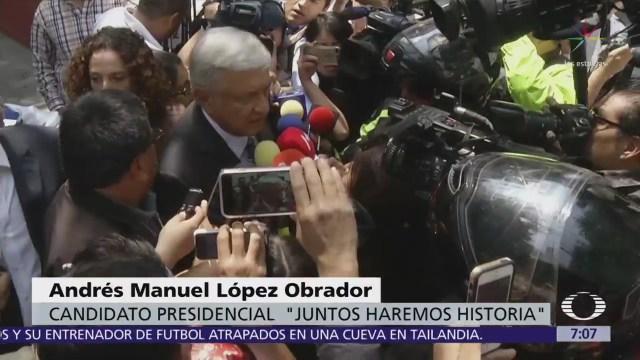 López Obrador agradece mensaje de felicitación a Vicente Fox