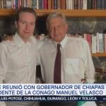 se reúne con el gobernador Manuel Velasco