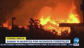 Luto por incendios forestales en Grecia