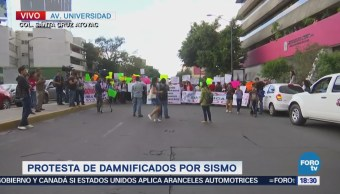 Manifestantes Bloquean Avenida Universidad Félix Cuevas