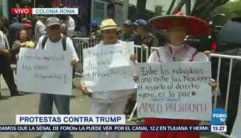 Manifestantes Protestan Inmediaciones Casa Transición, Tras Arribo Pompeo