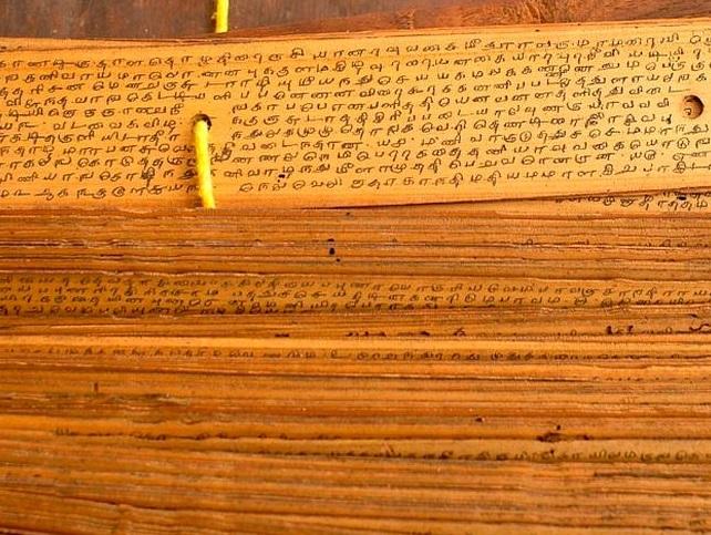 India halla escritos 'misteriosos' en hojas de palma