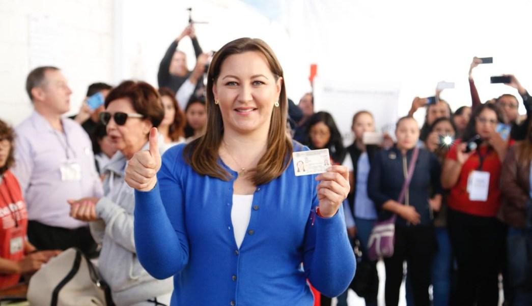 Martha Erika Alonso lleva 38% para la gubernatura de Puebla