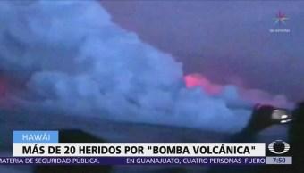 Más de 20 heridos por 'bomba volcánica' del Kilauea