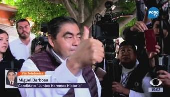 Miguel Barbosa Se Proclama Ganador Puebla