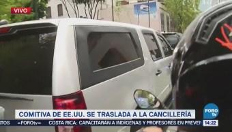 Mike Pompeo Llega Cancillería Reunirse Luis Videgaray