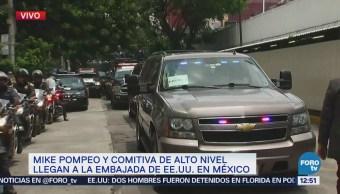 Mike Pompeo llega a la embajada de Estados