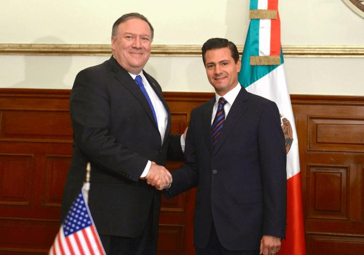 Peña Nieto pide a Pompeo la reunificación de familias migrantes