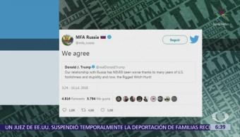 Ministerio de Relaciones Exteriores ruso responde comentario de Trump