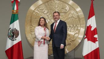 Ministra de Exteriores de Canadá se reúne con Luis Videgaray