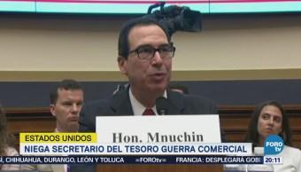 Mnuchin niega guerra comercial con México