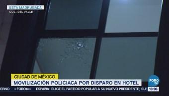 Movilización Policiaca Disparo Hotel Cdmx