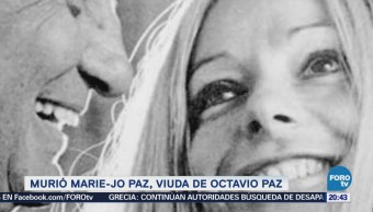 Muere Marie-Jo Paz Viuda Nobel Mexicano Octavio Paz